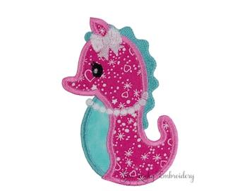 Seahorse Patch - Seahorse Applique - Seahorse Iron on - Embroidered Patch - Iron On Patch - Sew On Patch - Animal Patch