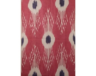 Sale! Ikat Fabric, Ikat Fabric by the yard, Hand Woven Fabric