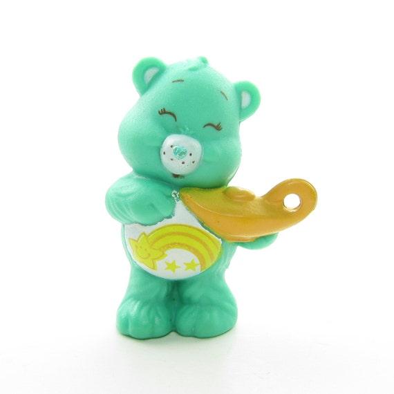 Wish Bear With A Genie Lamp Vintage Care Bears Pvc Mini Figure