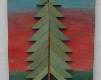 Reclaimed Wood Wall Art-Rustic Wall Art-Trees-Southwestern-Cabin Art-Wall Hanging-Wood