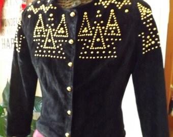 Vintage Positano Genuine Suede Jacket.
