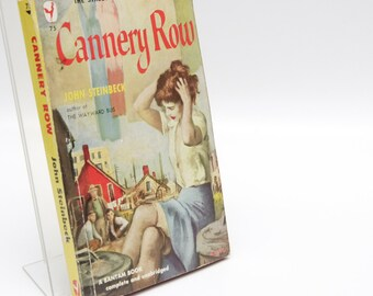 "Book Club Gifts: ""Cannery Row"" John Steinbeck [1950] First Paperback Edition 