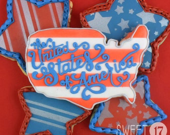 Fourth of July Sugar Cookies (Set of Six)
