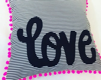 Monochrome Love Pillow