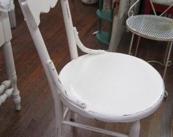 Shabby Oak Cream Chair Cottage White Farmhouse Chic Cottage Prairie