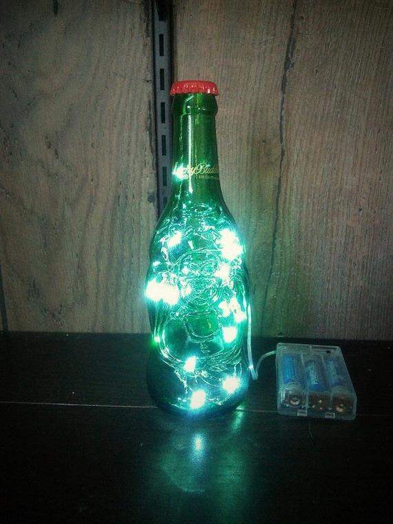 String Lights For Bottles : Lucky Buddha Beer Bottle Bar String Light Lamp repurposed