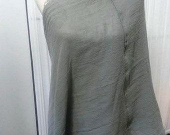 Gauze Infinity Nursing Scarf, SALE, versatile, Double layered ultra thin Organic cotton gauze, Gray
