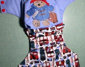 "Cloth Diaper Embroidery Pocket AI2 Shell ""Polite Bear"""
