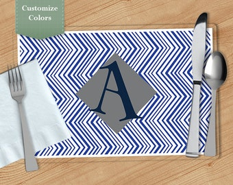 Zig Zag -  Personalized Placemat, Customized Placemats, Custom Placemat, Personalized Gift