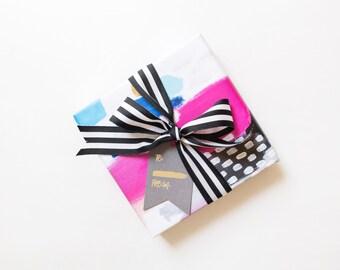 Wrapping Paper Gift Set - Abstract Pink Polka Dot