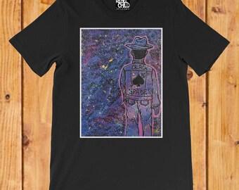 Black Spades Graffiti/Street Art Style T-shirt for Men, Women and Kids. Original Art Painting Tee
