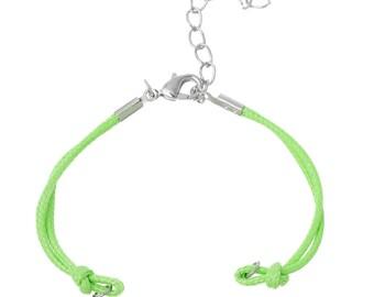 "3 Braiding Bracelets - Green - Nylon - 14.3cm - 5 5/8"" Long - Ships IMMEDIATELY from California - CH751"
