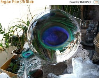 ON SALE at Etsy Huge Crystal Ball, 110mm or 4.25inches in diameter.Absolutely Fabulous, So Impressive, I Think I Saw My Grandkids, Grandkids