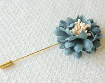 Blue Green Pink and Purple Flower Pin Corsage Pin Boutonniere Lapel Pin
