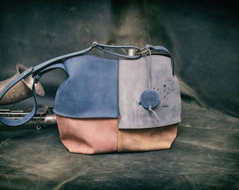 Leather shoulder bag hobo bag LADYBUQ oversize handmade bag Ultimate Edition