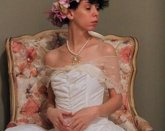 Flower Crown Wreath, Violet Flower Crown, Bridal Crown,  Floral Head Wreath