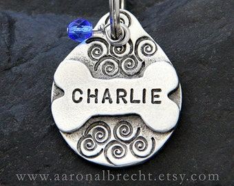 Dog Tags for Dog Collars Bone Dog Tag Personalized Dog ID Tag Dog Gift Pet ID Tag Custom Handstamped Pet Tags