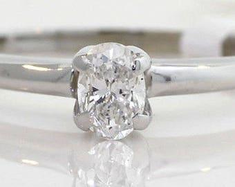 Classic Engagment Ring Oval  cut diamond   25 points   VS F color ..So classic...Single Solitiar