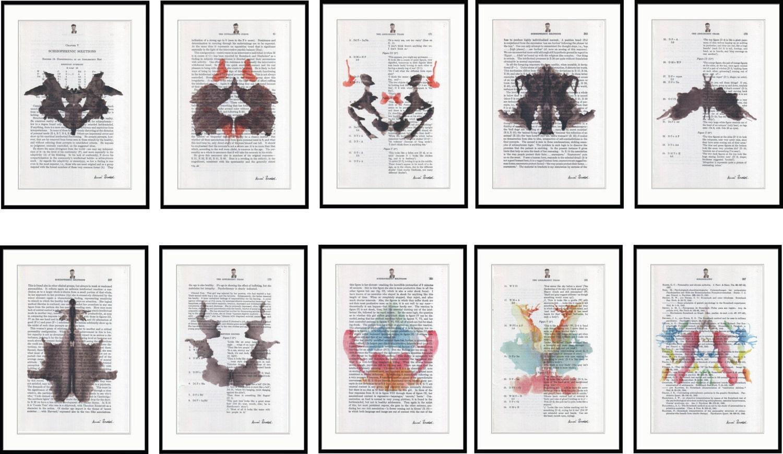 10 stampe psichiatria psicologia medico hermann rorschach - Test di rorschach tavola 1 ...