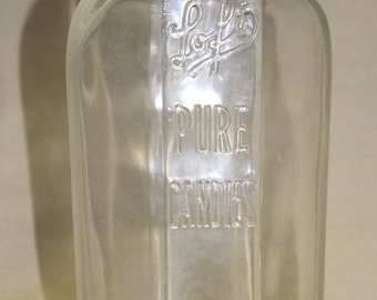 C. 1930's 'Loft Pure Candies' Jar w/Zinc Lid