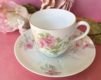 Lovely and Dainty Porcelain Demitasse Cup and Saucer-Haviland Saucer-Austrian Cup