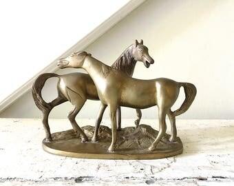 Vintage Brass Horses