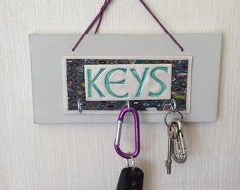Key hanger - Triple key hook board -