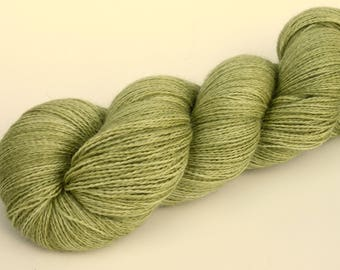 "Kettle Dyed Lace Yarn, Baby Alpaca, Silk, and Cashmere Lace Weight, in ""Lichen"""