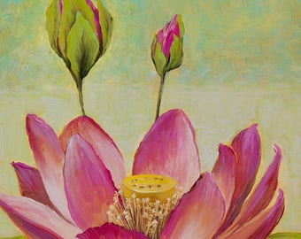 Lotus flower,water lily prints, lotus painting, Flower Prints,Maui prints,Water lily prints, Hawaiian prints, Tropical PRINTS