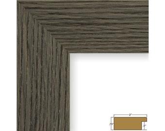 Craig Frames, 16x20 Inch Gray Oak Picture Frame, Bauhaus 2-Inch Wide (202779551620)