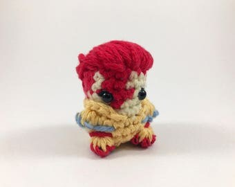 "David Bowie Amigurumi Kawaii Keychain Miniature Doll ""Pod People"""