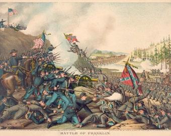 Images of America: The Civil War - The Battle of Franklin, Tenn. - November 10, 1864 - Fine Art Print Reproduction