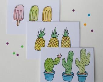 Summer Notecard Set (of 6)