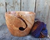 Yarn Bowl, Flame Maple Kitting Holder