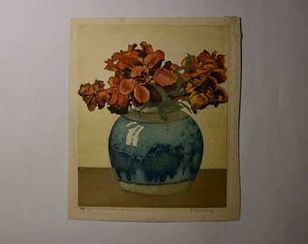 Vase with Flowers LImited Edition Print 29/75