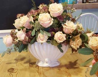 Lovely Sylvac Clam Shell, Vase - Planter. With original insert.