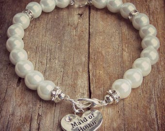 Pearl Bracelet • Maid of Honor Bracelet • South Sea Pearls • Wedding Jewelry • Bridal Bracelet • Bridesmaid Bracelet • Bridal Gift