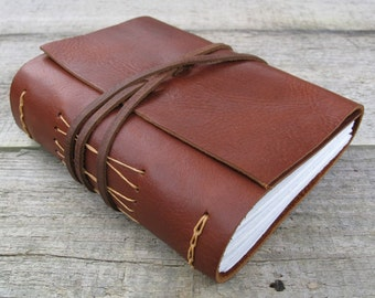 Leather journal, Sherlock Holmes quote, medium hand bound journal, sketchbook, notebook, travel book, writer, artist, gift / 320 pages