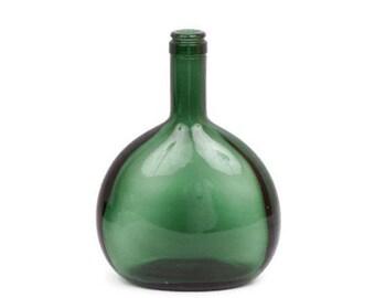 Vintage wine bottle green glass etsy for Green glass wine bottles