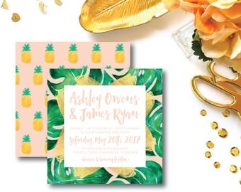 Love in Paradise Wedding Invitations