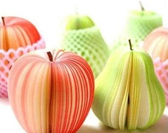 Fruit sticky notes, Green Apple sticky notes, Bookmark