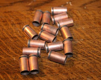 16 pieces of 9mm,bullet jewelry,bullet casing jewelry,bullet brass casings,luger,9 mm luger,9mm bullet,bullet brass,9mm bullet casing,9 mm