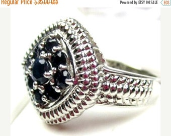 Sterling Silver Rhinestone Cluster Ring  Vintage Jewelry NEW YEAR SALE