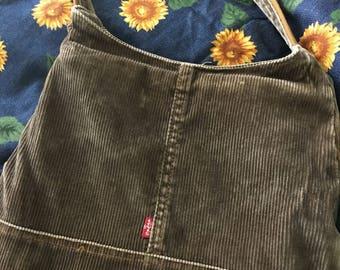 Vintage Levis Corduroy Purse Shoulder bag brown corduroy