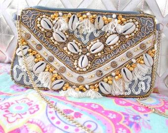 pochette ethnique hippie chic perles