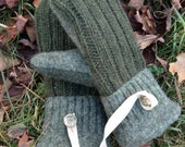 Earthy Green Sweater Mittens