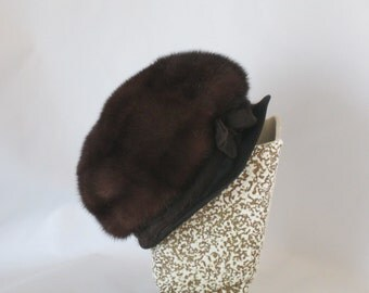 Vintage Mink Hat. Lucille Morgan, Beverly Hills. Beautiful Condition