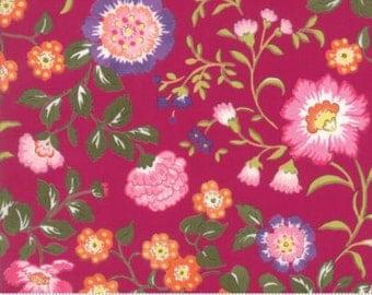 Regent Street Lawn 2016 by Moda - English Garden - Claret - 1/2 Yard Cotton Lawn Fabric 117