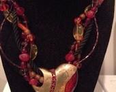 Vintage Chicos valentines heart necklace