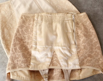 TWO French Vintage Girdles...Shabby Chic.